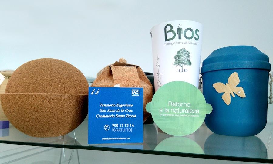 Urnas biodegradables Funeraria Santa Teresa